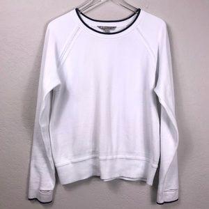 Athleta Sweater Scoop neck White Sz Large